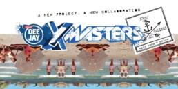 Deejay Xmasters - Cobranding Deejay Xmasters e upupa&colibri xmasters t-shirt