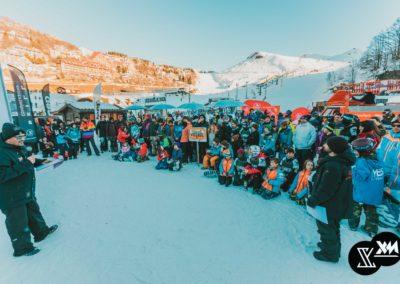 Gli atleti della Coppa Italia di Snowboard Freestyle