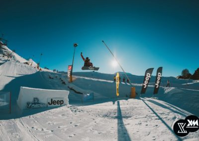 Il Jump del set up dello slopestyle