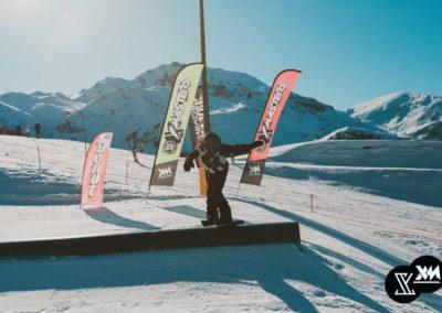 Uno degli ostacoli del percorso slopestyle